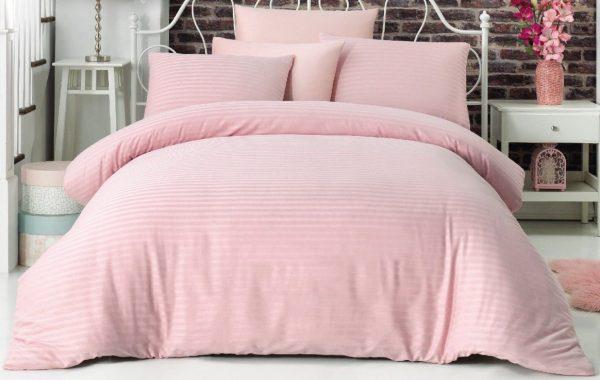 купить Постельное белье La Rita страйп сатин Basic Розовый Розовый фото