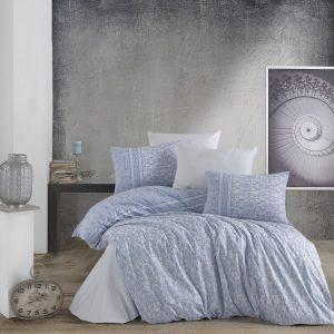 купить Постельное белье Zugo Home ранфорс Avila V1 Голубой фото