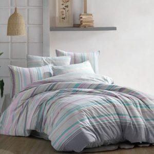 купить Постельное белье Zugo Home ранфорс Decora V1 Розовый|Серый фото