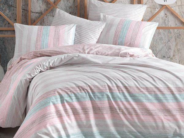 купить Постельное белье Zugo Home ранфорс Merisa V1 Розовый фото
