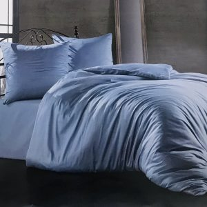 купить Постельное белье Zugo Home сатин однотонный Aqua Голубой фото