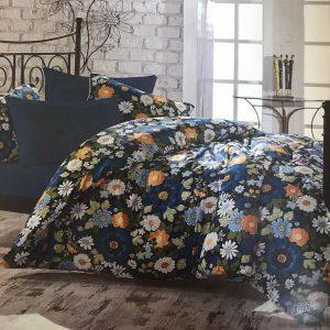 купить Постельное белье Zugo Home сатин Botanical V3 Синий фото