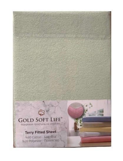 купить Простынь махровая на резинке Gold Soft Life Terry Fitted Sheet Ментоловый_x000D_