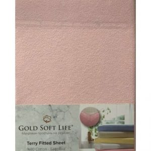 купить Простынь махровая на резинке Gold Soft Life Terry Fitted Sheet Розовый