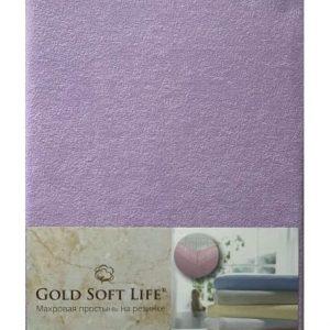 купить Простынь махровая на резинке Gold Soft Life Terry Fitted Sheet Сиреневый