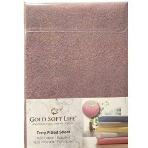 купить Простынь махровая на резинке Gold Soft Life Terry Fitted Sheet Фиолетовый
