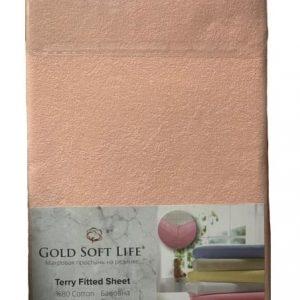 купить Простынь махровая на резинке Gold Soft Life Terry Fitted Sheet pink