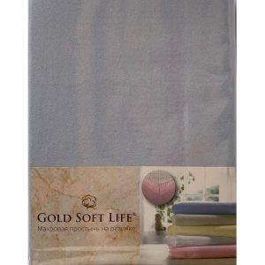 купить Простынь трикотажная на резинке Gold Soft Life Terry Fitted Sheet Голубой