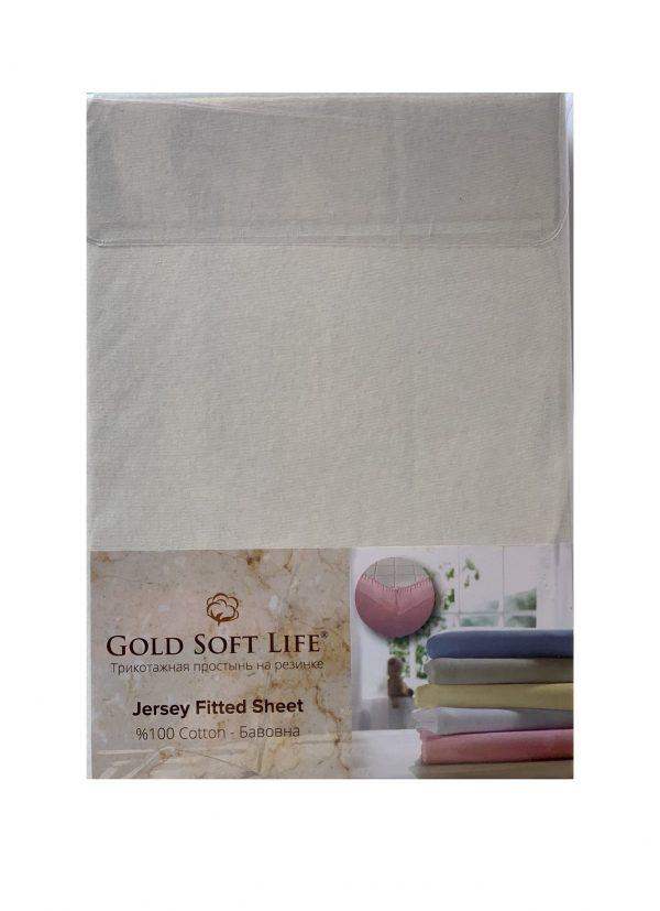 купить Простынь трикотажная на резинке Gold Soft Life Terry Fitted Sheet Кремовый