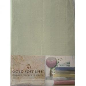купить Простынь трикотажная на резинке Gold Soft Life Terry Fitted Sheet Ментоловый_x000D_