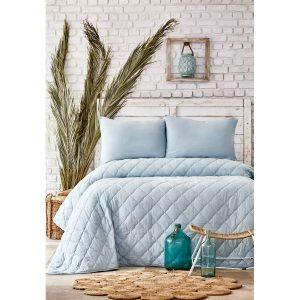 купить Набор постельное белье с одеялом Karaca Home - Cloudy mint Ментоловый фото