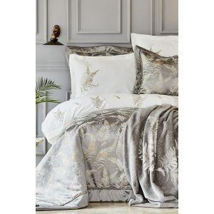 купить Набор постельное белье с одеялом Karaca Home - Fronda gri Серый фото