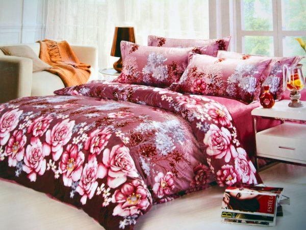 купить Постельное белье Велюр 00000718 Розовый фото