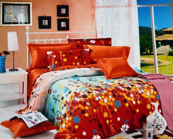 купить Постельное белье Велюр 00000721 Оранжевый фото