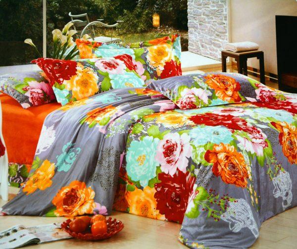 купить Постельное белье Велюр 00000724 Оранжевый фото