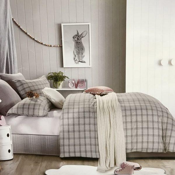 купить Постельное белье Французский лен 77117 Серый фото