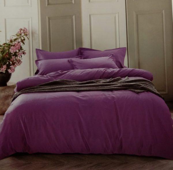 купить Постельное белье сатин люкс 40S однотонный 00001584 Фиолетовый фото