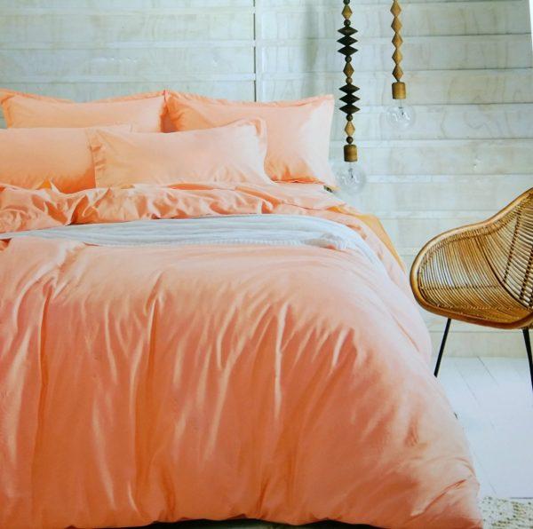 купить Постельное белье сатин люкс 40S однотонный 00001587 Оранжевый фото