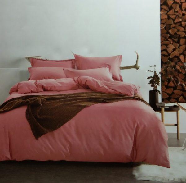 купить Постельное белье сатин люкс 40S однотонный 00001588 Розовый фото