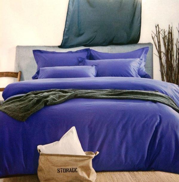 купить Постельное белье сатин люкс 40S однотонный 00001595 Синий фото