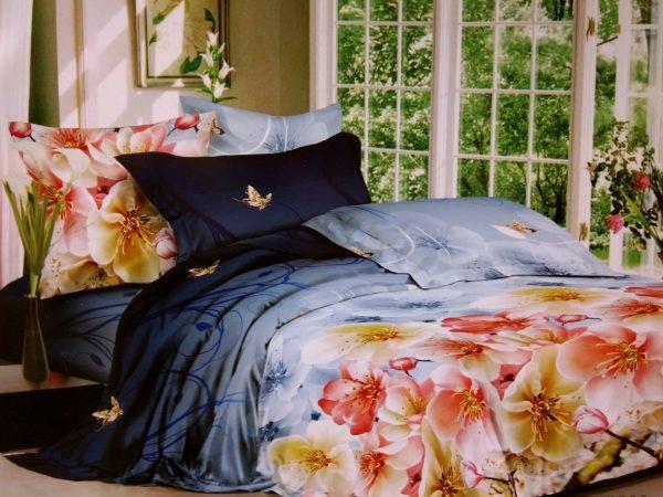 купить Постельное белье сатин люкс 60S 00001659 Синий фото