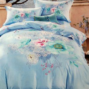 купить Постельное белье сатин люкс 60S 00001670 Голубой фото