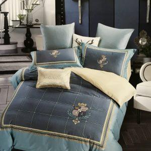 купить Постельное белье сатин люкс 60S 14035 Синий фото