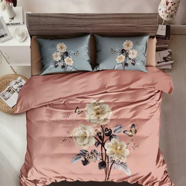 купить Постельное белье сатин 40s принт 94704 Розовый фото