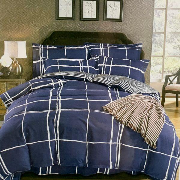 купить Постельное белье фланель 469765 Синий фото