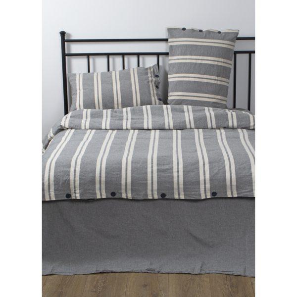 купить Постельное белье Barine Washed cotton - Heritage antrasit Серый фото