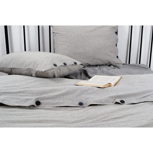 купить Постельное белье Barine Washed cotton - Shint Серый фото