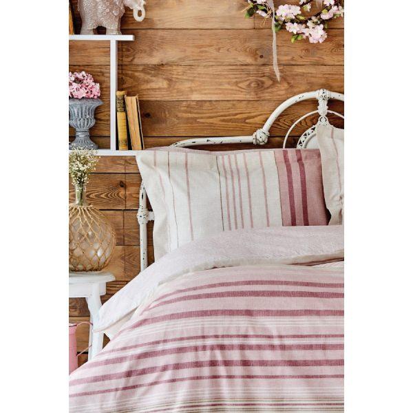 купить Постельное белье Karaca Home ранфорс - Aspen pudra 2020-2 Розовый фото