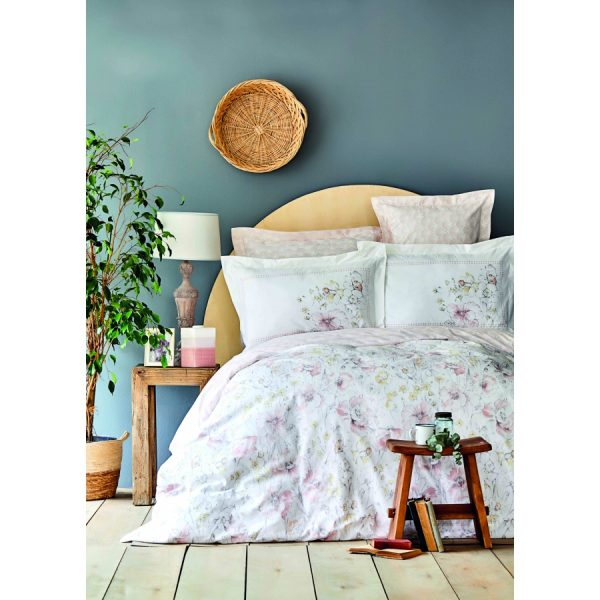 купить Постельное белье Karaca Home ранфорс - Milner pudra Розовый фото