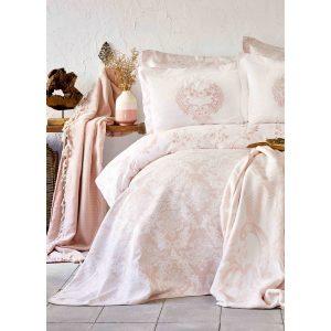 купить Постельное белье Karaca Home сатин - Quatre royal pudra Розовый фото