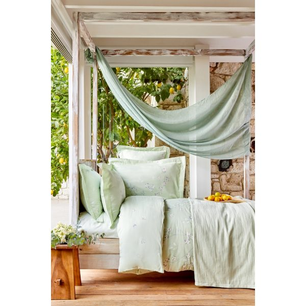 купить Постельное белье Karaca Home - Nadia yesil pike jacquard Зеленый фото