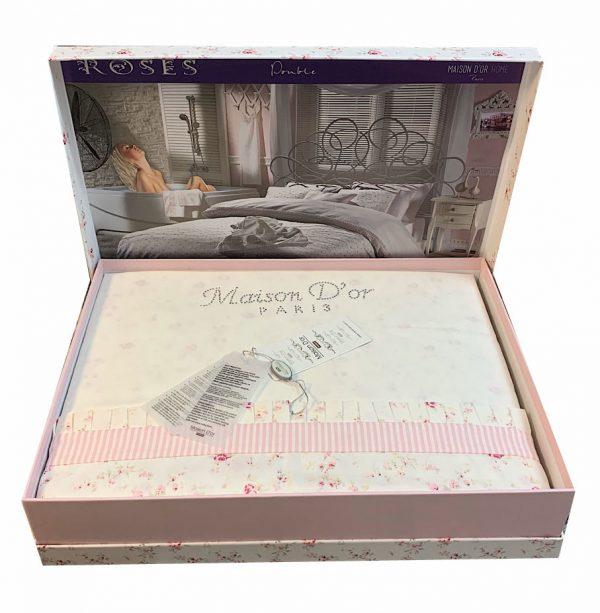 купить Постельное белье Maison Dor - ROSES KREM Кремовый фото