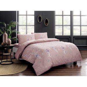 купить Постельное белье TAC ранфорс - Sarah pembe v02 Розовый фото