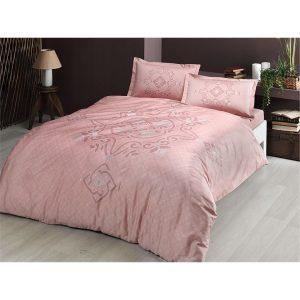 купить Постельное белье TAC сатин - Bruna pembe v01 Розовый фото