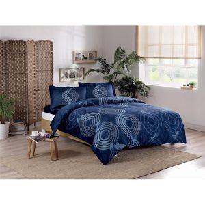 купить Постельное белье TAC сатин - Paloma lacivert v02 Синий фото