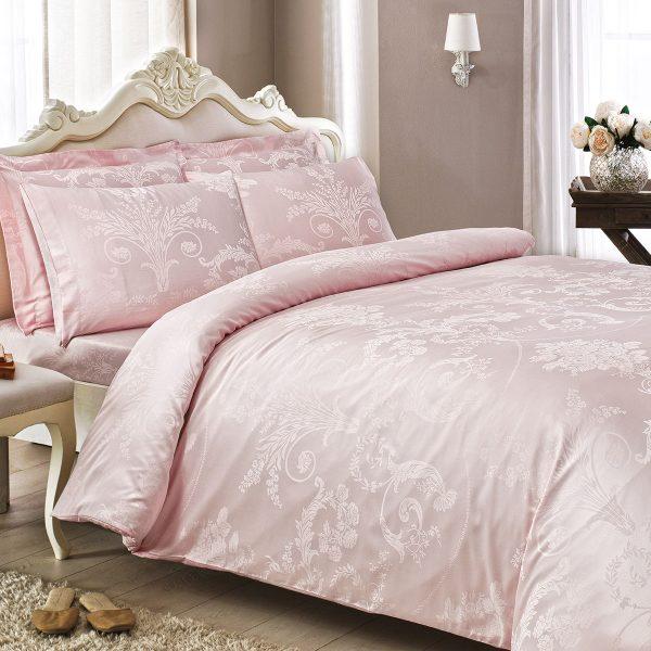 купить Постельное белье TIVOLYO HOME JACQUARD ARREDO PEMBE Розовый фото