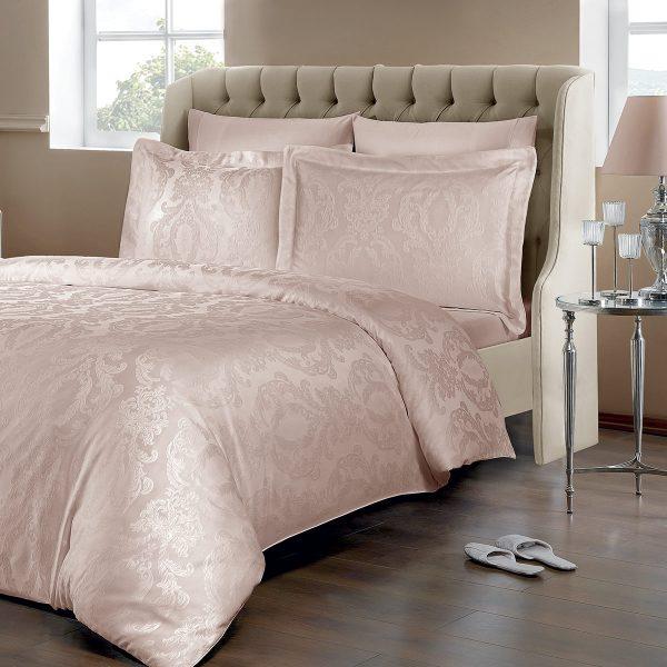 купить Постельное белье TIVOLYO HOME JACQUARD FABIO PUDRA Розовый фото