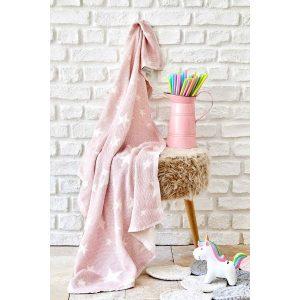 купить Детское покрывало пике Karaca Home - Baby star pembe