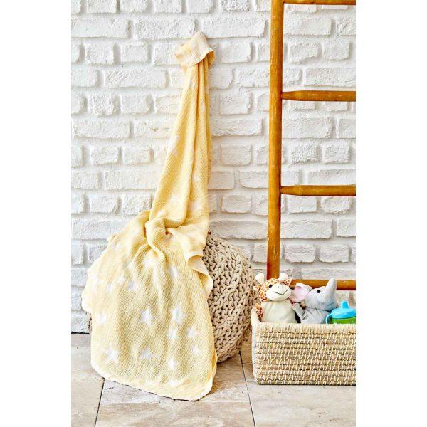 купить Детское покрывало пике Karaca Home - Baby star sari