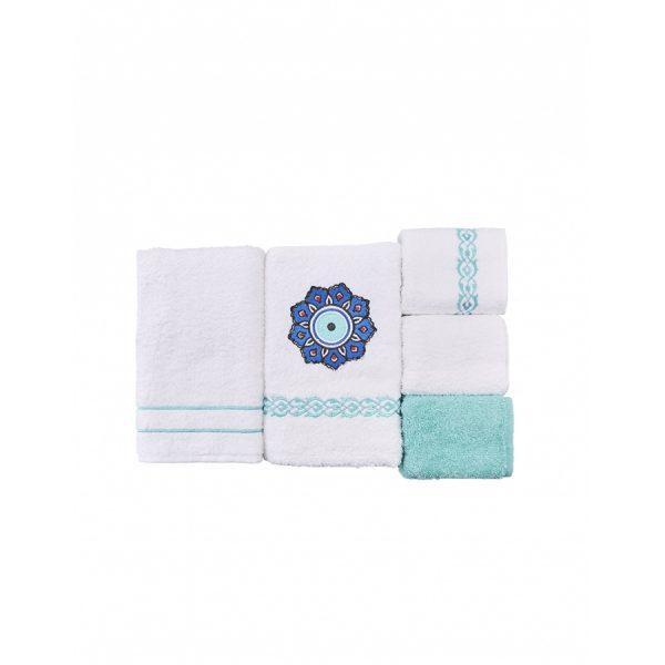 купить Набор полотенец Karaca Home - Destiny turkuaz 5шт