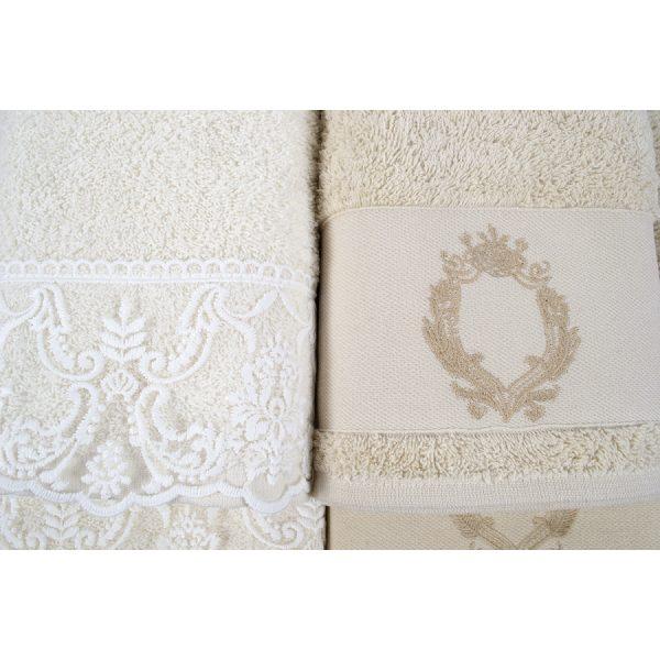 купить Набор полотенец Karaca Home - Silvio offwhite-bej