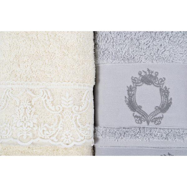 купить Набор полотенец Karaca Home - Silvio offwhite-s.yesili