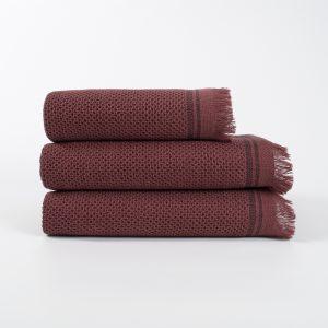 купить Полотенце махровое Buldans - Parga Patara burnt bordo