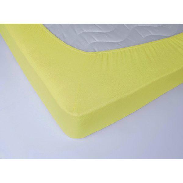 купить Простынь махровая на резинке Lotus - Желтая