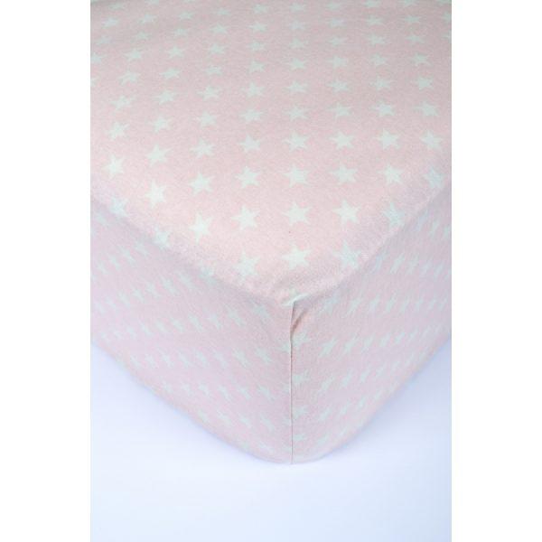 купить Простынь на резинке TAC Flanel - Bella розовый