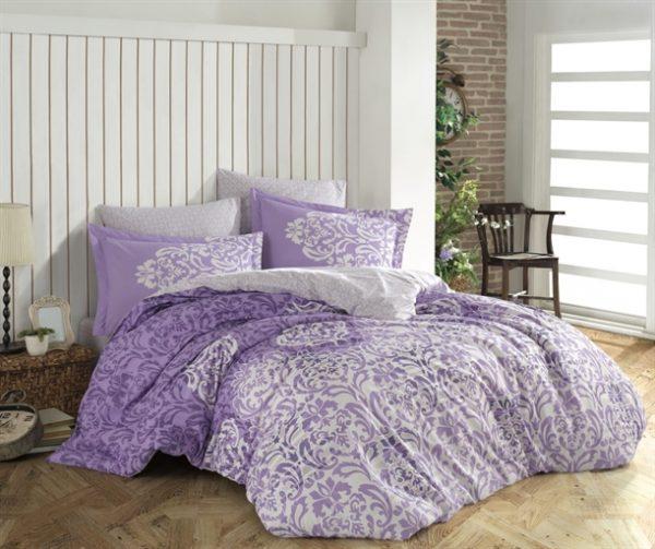 купить Постельное белье HOBBY Poplin Serenity бузковий Фиолетовый фото